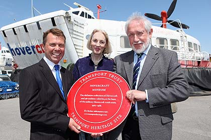 The Hovercraft Museum being presented with an Engineering Trust award.